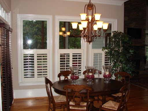 cafe style plantation wood shutters
