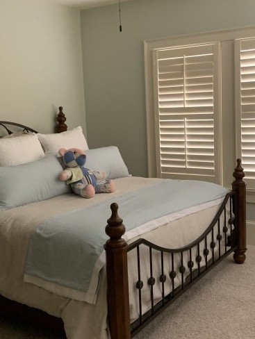 wood plantation shutters bedroom Woodstock ga atlanta