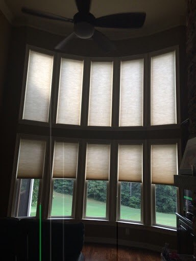 motorized Hunter Douglas cellular honeycomb Shades cumming ga atlanta
