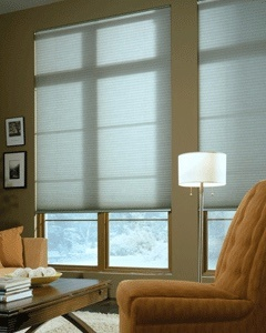 hunter douglas roller shades in living room