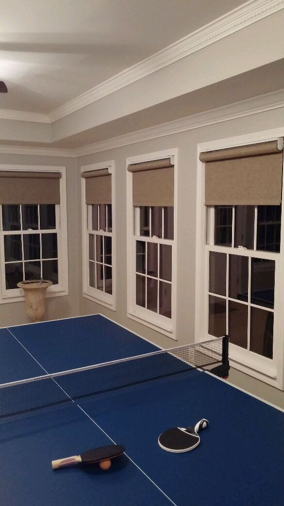 roller shades in a game room Woodstock ga atlanta
