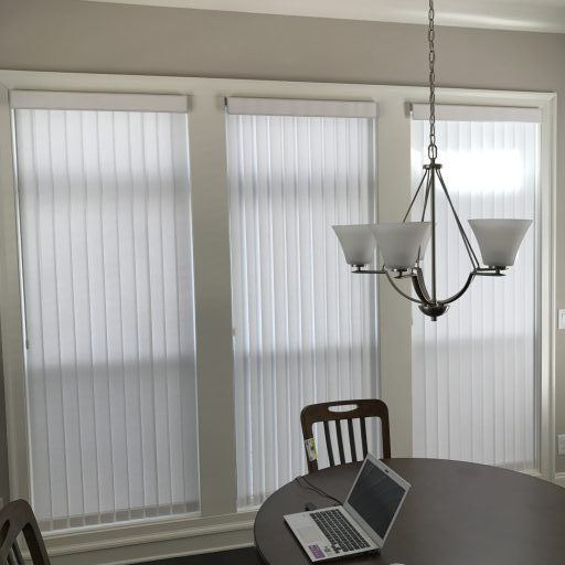 Hunter Douglas vertical sheer shades