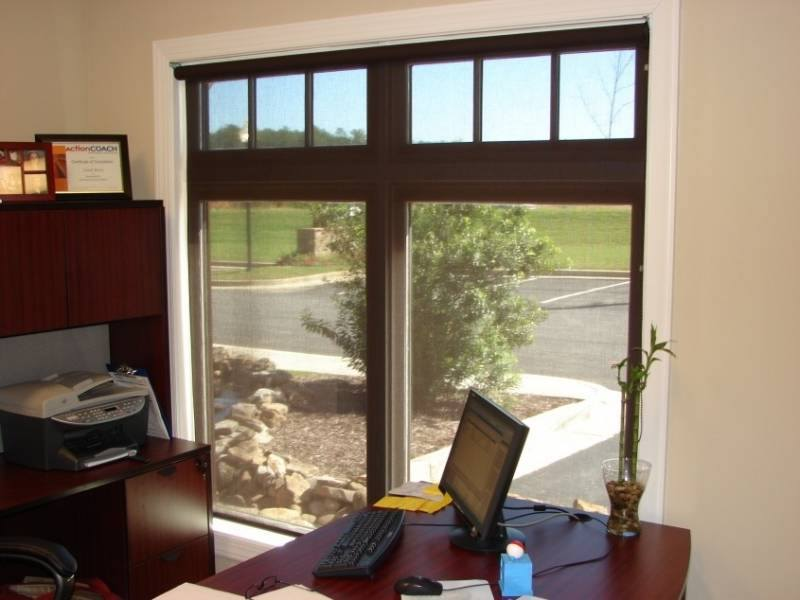 commercial roller shades in a dentist office in dallas ga