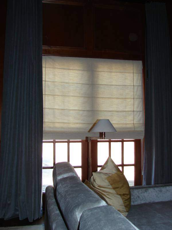 flat panel roman shades from hunter douglas